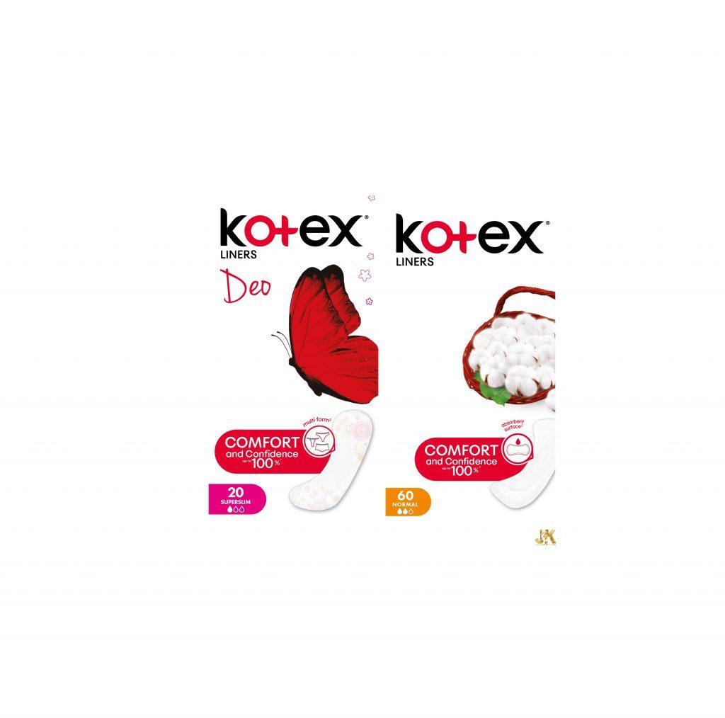 KOTEX® ежедневни дамски превръзки