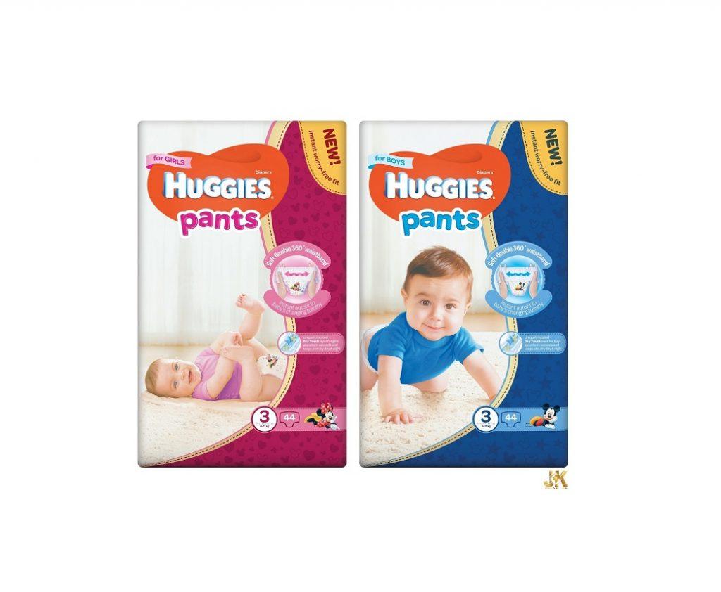 Huggies® Pants пелени гащички с модели за момчета и момичета