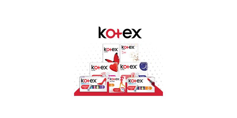 Сигурност и увереност до 100% по време на месечния цикъл с KOTEX®