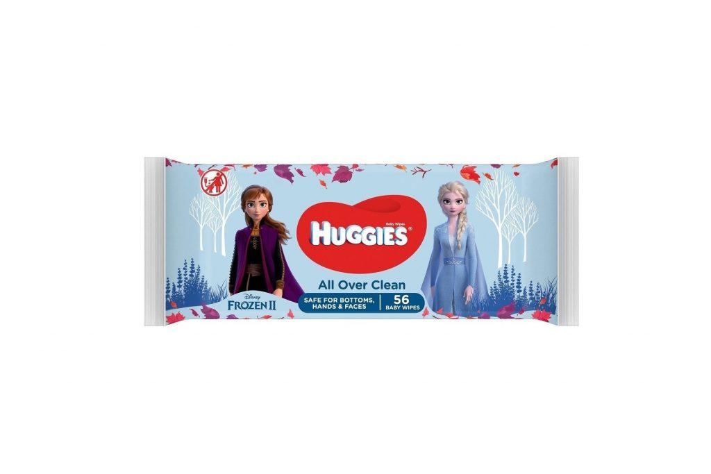 HUGGIES БЕБЕШКИ МОКРИ КЪРПИЧКИ ALL OVER CLEAN FROZEN II