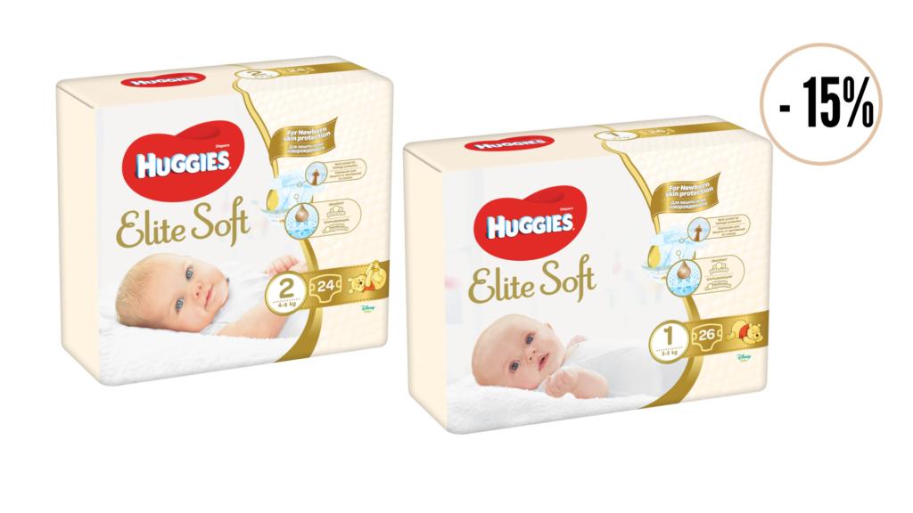 Huggies® Elite Soft  1 и Huggies® Elite Soft  2 вече и в магазини Фантастико